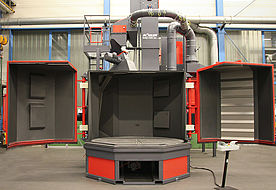 Rotary table blast machine RDT 250
